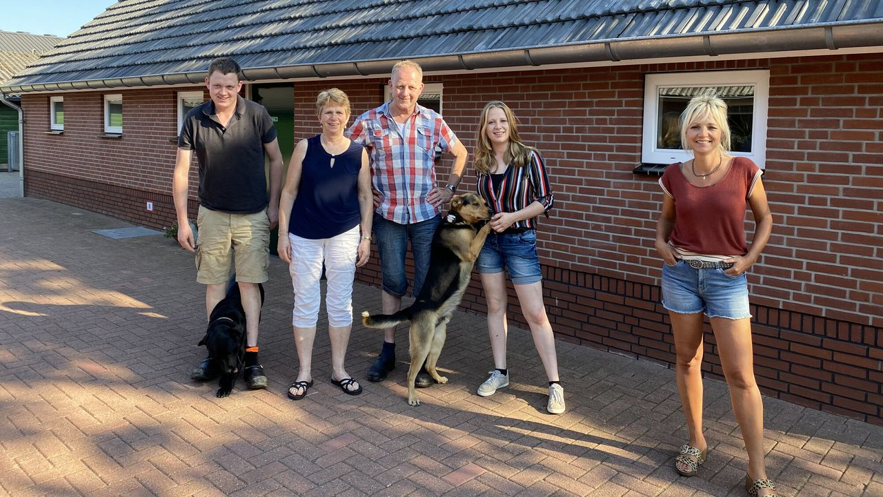 Onze boerderij Yvon met Steffi naar stressvolle hengstenkeuring